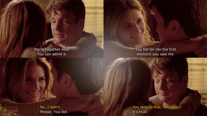"""You fell for me the first moment you saw me."""