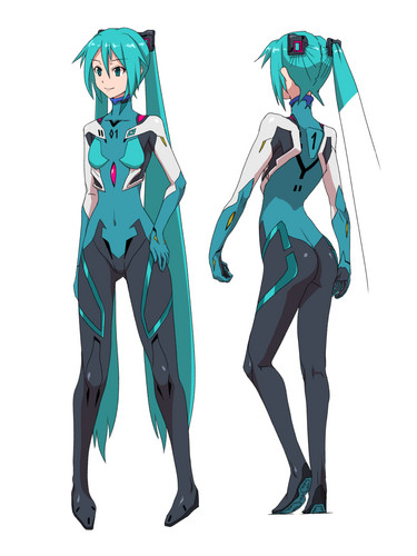 "Hatsune Miku Hintergrund possibly with Anime entitled 1 Miku -319 the 1st ""plug suit Q"""