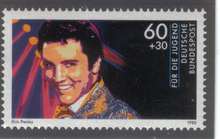 A Commerative Elvis Presley Postage Stamp