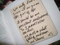 A Personal Handwritten Note From Michael - michael-jackson photo
