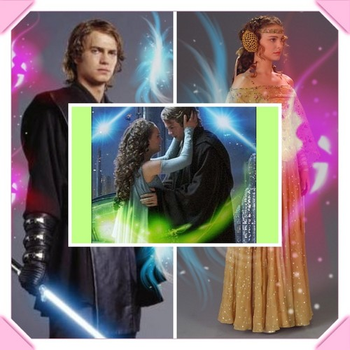 bintang Wars: Revenge of the Sith wallpaper probably with a sign and a portrait called Anakin & Padme
