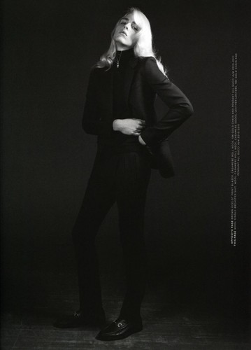andrej pejic wallpaper with a business suit, a suit, and a well dressed person entitled Arena Homme +
