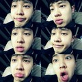 B2ST's Kikwang revealed his full lips in a '6 step transformation' selca. - beast-b2st photo
