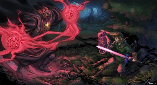 Battle of Zelda kertas dinding