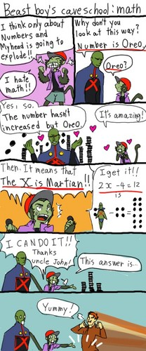 Beast Boy Cave School Teachings: Math