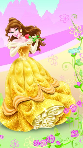 Princess Belle wallpaper containing a bouquet entitled Belle