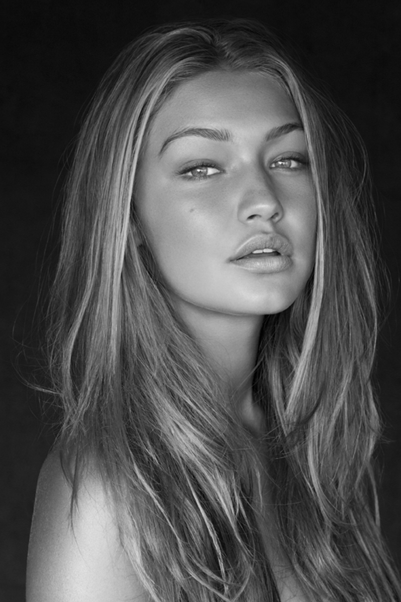 Gigi hadid images black and white hd wallpaper and background photos