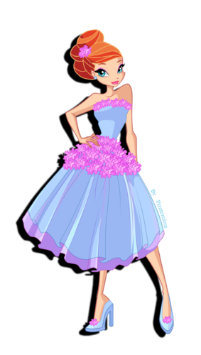 El Club Winx fondo de pantalla possibly containing a polonesa called Bloom: Season 5 Dress