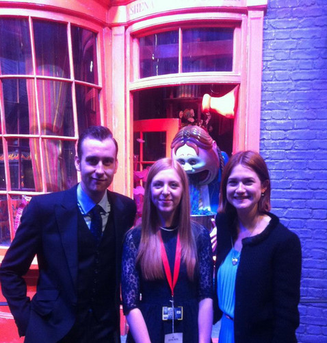Bonnie Wright, Matthew Lewis fotos with royal family at WB Studio Leavesden opening