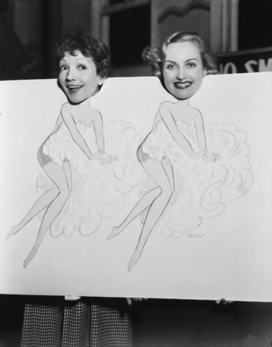 Carole Lombard & Claudette Colbert