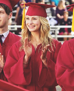 "The Vampire Diaries wallpaper with an academic toga, abito entitled Caroline ""Graduation"""