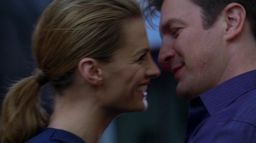 Caskett wallpaper possibly containing a business suit entitled Caskett 5x22 Screencaps