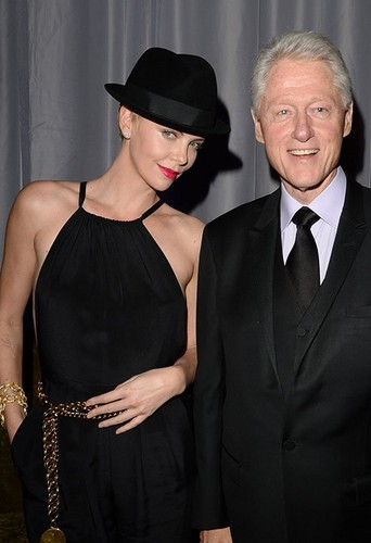 Charlize with Bill Clinton
