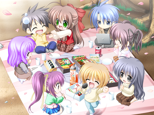 Kawaii Anime wallpaper with anime titled Chibi Picnic
