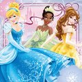 Cinderella, Tiana and Belle
