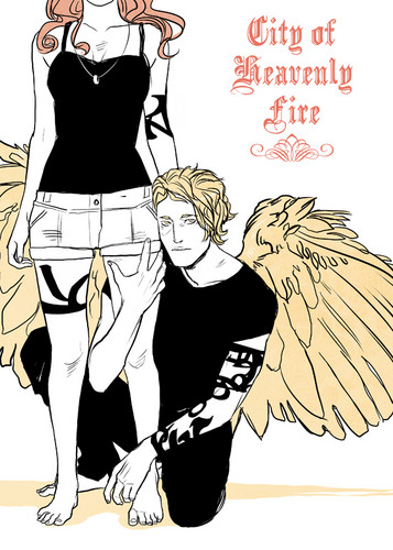 City of Heavenly feuer art Von Cassandra Jean