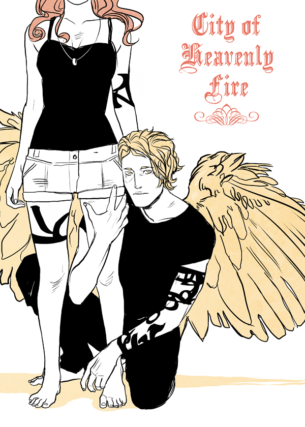 City of Heavenly fuego art por Cassandra Jean