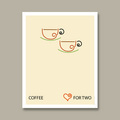 Coffee art - Coffee for two - coffee fan art