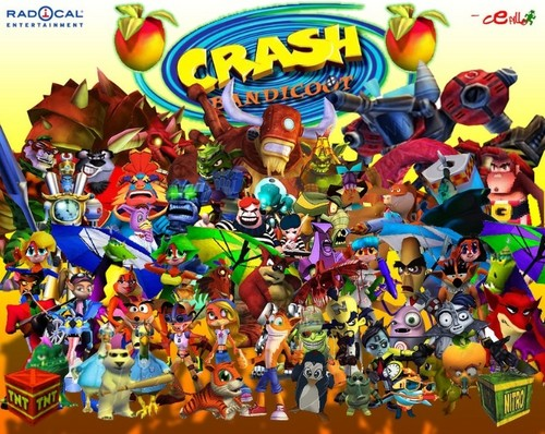 Crash Bandicoot all characters - Crash Bandicoot Fans Photo