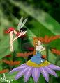Crysta and Thumbelina - ferngully fan art