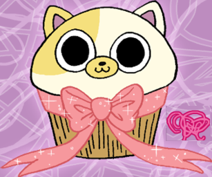 Adventure Time With Finn and Jake wallpaper probably with anime entitled Cupcake Cake the cat
