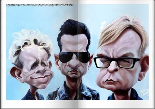 Depeche Mode fond d'écran probably with sunglasses and a portrait entitled D.M caricature
