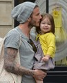David and Victoria with Harper Seven in Paris - david-beckham photo
