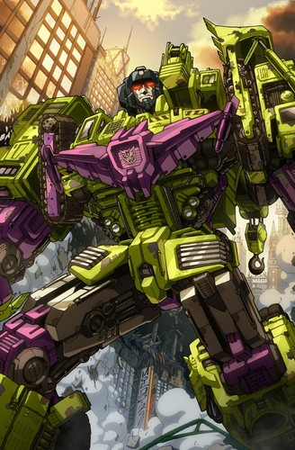 Transformers karatasi la kupamba ukuta probably containing anime called Devastator