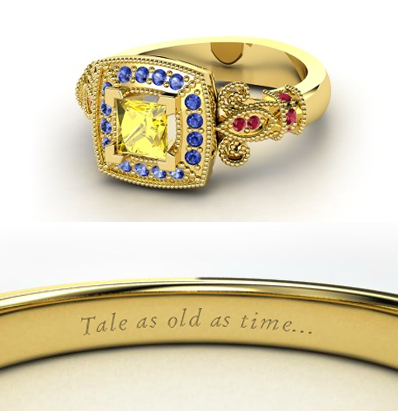 disney Engagement Ring - Belle