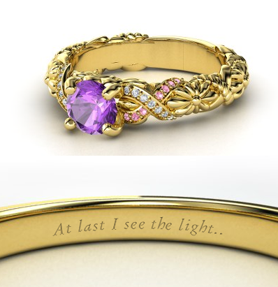 disney Engagement Ring - Rapunzel