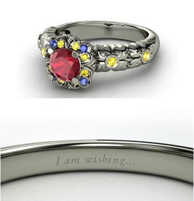 디즈니 Engagement Ring - Snow White