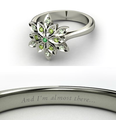 Disney Engagement Ring - Tiana