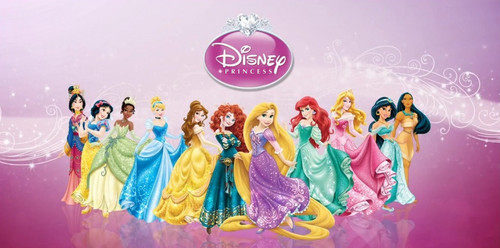 ディズニー Princess lineup with Merida