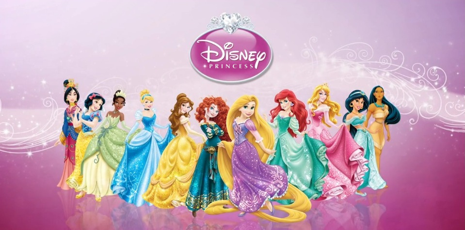 Disney Princess lineup with Merida