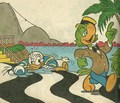 Donald canard and Jose Carioca