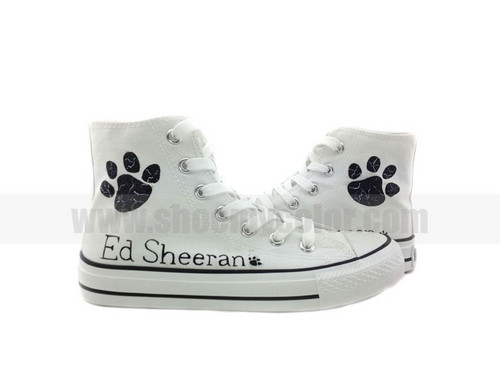 Ed Sheeran hand painted shoes