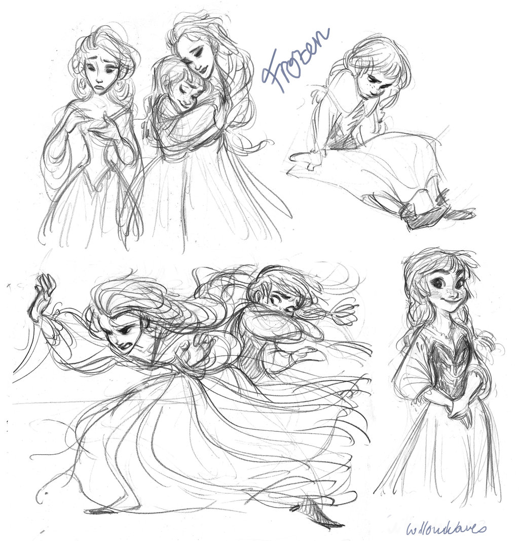 esa sketches frozen anna and sisters - photo #46