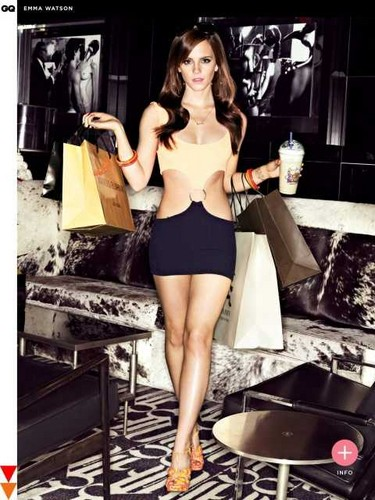 Emma Watson wallpaper probably containing bare legs, hosiery, and a costume da bagno titled Emma watson hot