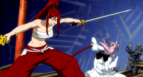 Erza vs Ikaruga (Fairy Tail)