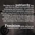 Feminism has more respect for men than most - feminism photo