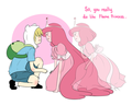 Finn and Princess Bubblegum