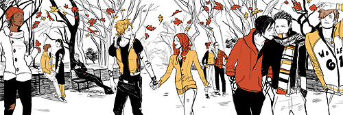 Four Shadowhunter Series' in the Four Seasons (art sa pamamagitan ng Cassandra Jean)