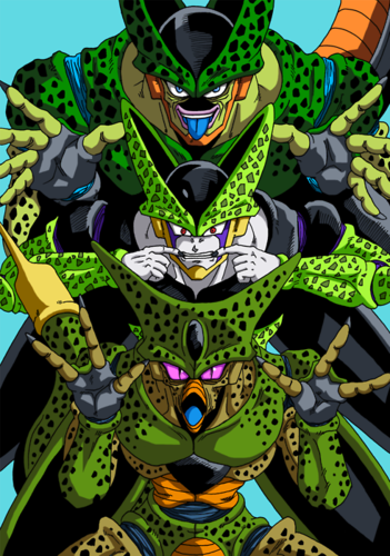 Dragon Ball Z wallpaper possibly containing Anime called Funny Cell fanart