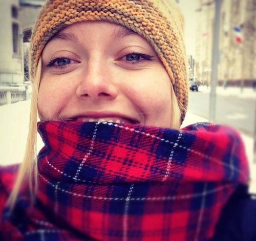 Georgina Haig achtergrond probably containing a bonnet entitled Georgina Haig