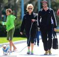 Hugh Jackman with his family in New York - hugh-jackman photo