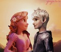 Jack Frost and Rapunzel - disney-crossover photo