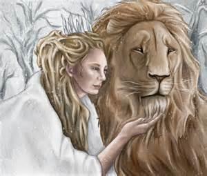 Jadis and Aslan