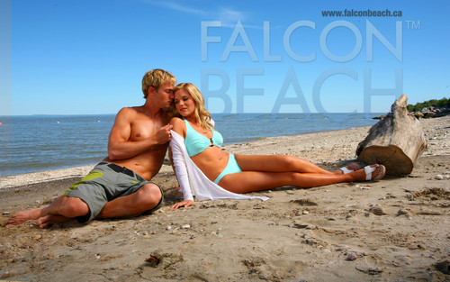 Falcon Beach wallpaper probably containing a bikini, a bather, and skin called Jason & Paige