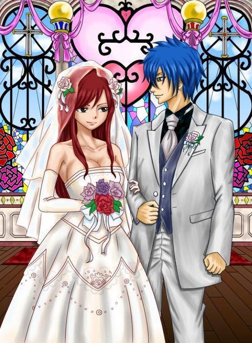 Erza scarlet wedding
