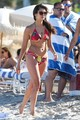 Julianne Hough and Nina Dobrev hanging out with Friends on the pantai in Miami